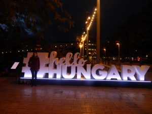 Budapest Hello Hungary Sign