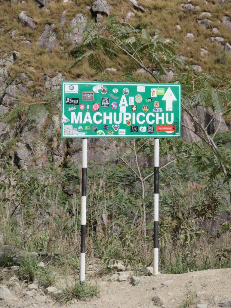 Visiting Machu Picchu | Machu Picchu Sign