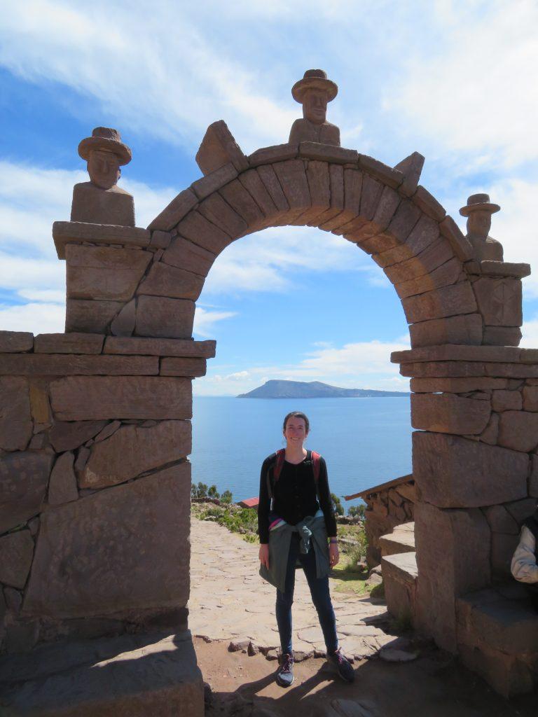 Peru's Lake Titicaca| Taquile arch